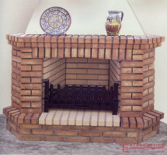Chimeneas de ladrillo extrar stico - Diseno de chimeneas rusticas ...